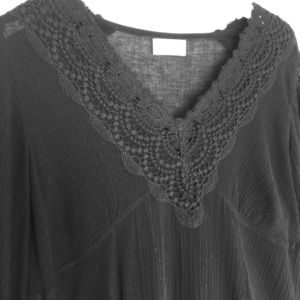 SOFT SURROUNDINGS Black Crochet Dress Size Medium
